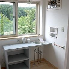 2階の手洗いカウンター